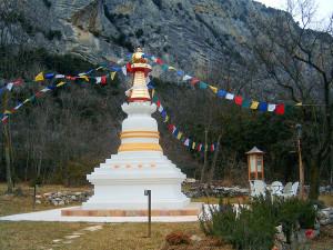 Cupola per tempio buddista in rame dorato