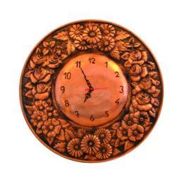 Orologio rame cesellato lucido o satinato (pezzo unico)