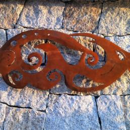 Applique da esterno in acciaio corten