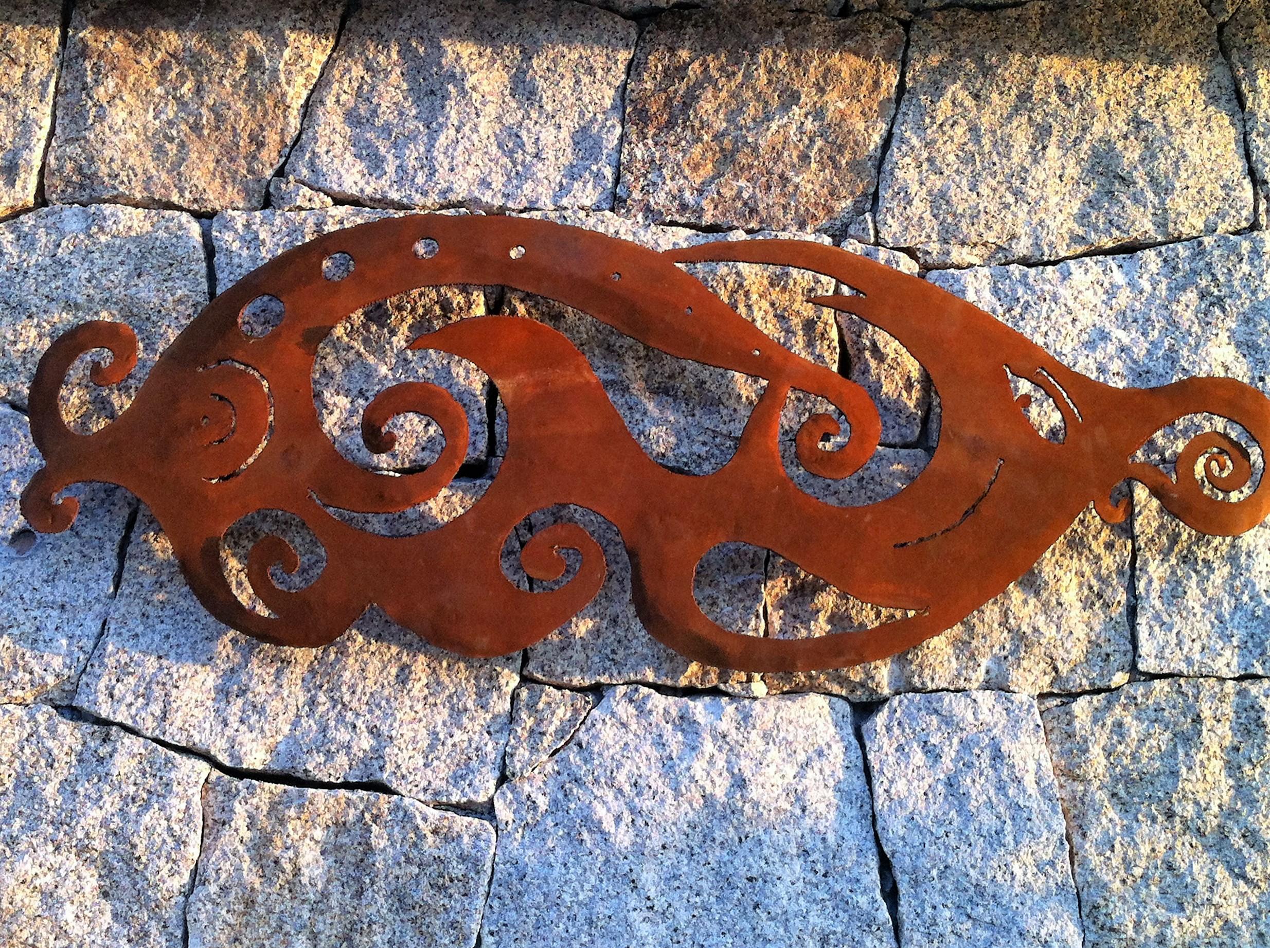Italiano lampada a muro in acciaio corten franchervino
